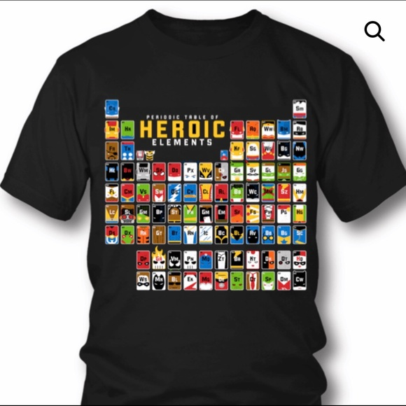 Swell American Apparel Heros Periodic Table T Shirt Home Interior And Landscaping Ferensignezvosmurscom